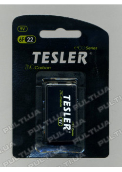 Батарейки TESLER ECO Series КРОНА 6F22 9V в блистере