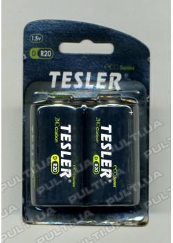Батарейки TESLER ECO Series DR20 1,5V 2 штукив блистере