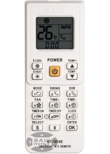 Универсальный пульт для кондиционера QUNDA KT-9018 (4000 кодов)