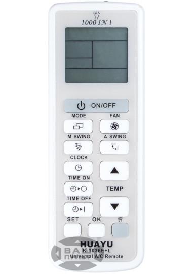 Универсальный пульт HUAYU для кондиционера K-1036E+L (1000 кодов)