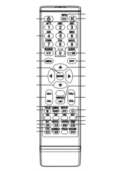 Пульт для BRAVIS EP-21, LED2868 (HQ) - 5