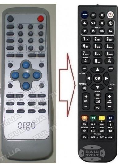 Пульт для ERGO DVD CASE 2407 (аналог)