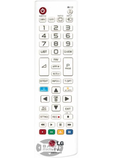 Оригинальный пульт LG AKB73715634