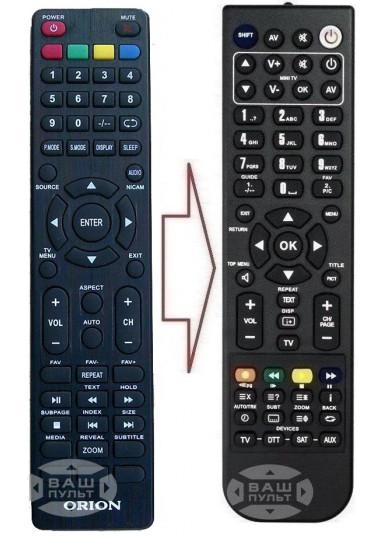 Пульт для ORION LED TV (аналог)