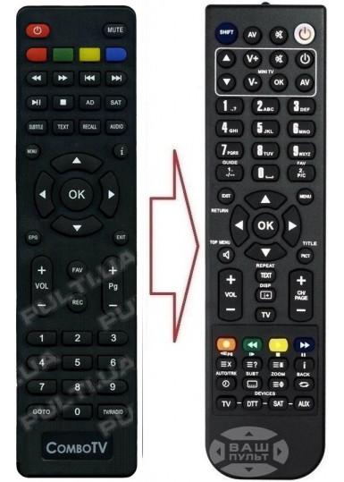 Пульт для ROMSAT COMBO TV (аналог)