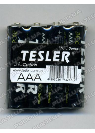 Батарейки  TESLER ECO Series LR03 SIZE AAA (цена за 1 батарейку, в полиэтилене 4 шт.)