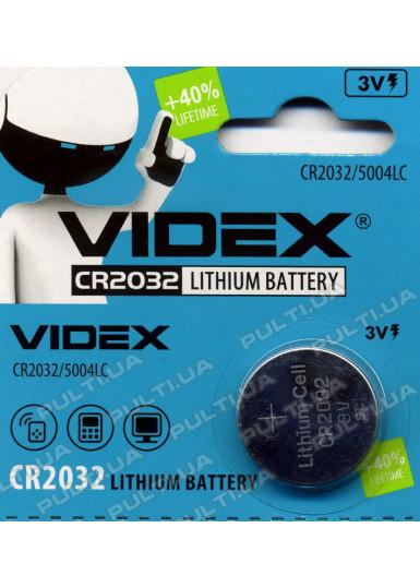 Батарейка VIDEX CR2032 в блистере