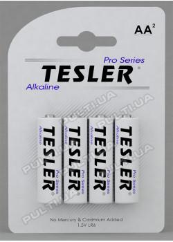 Батарейки TESLER ALKALINE LR06-4  SIZE  AA 4 штуки блистер